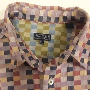 Ted Baker short sleeve shirt SIZE LARGE